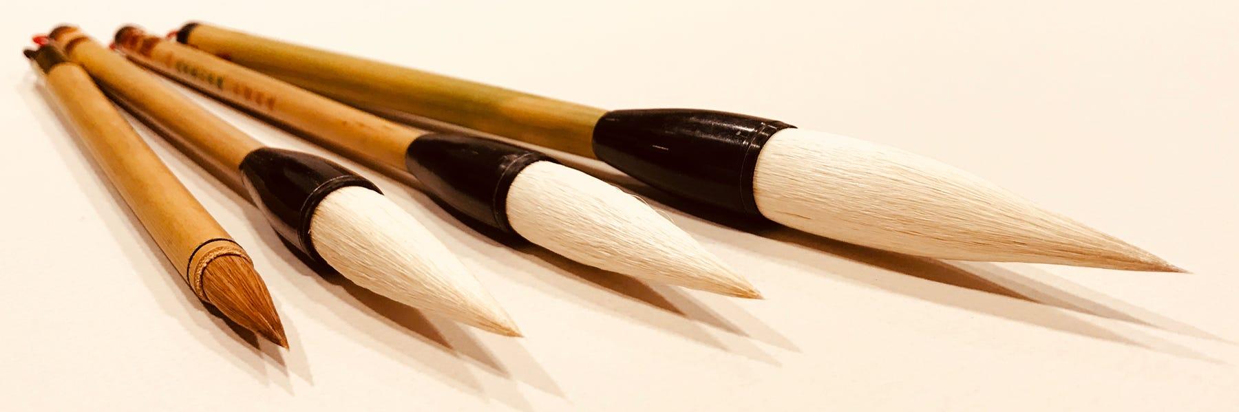 Tuschpenslar bambu