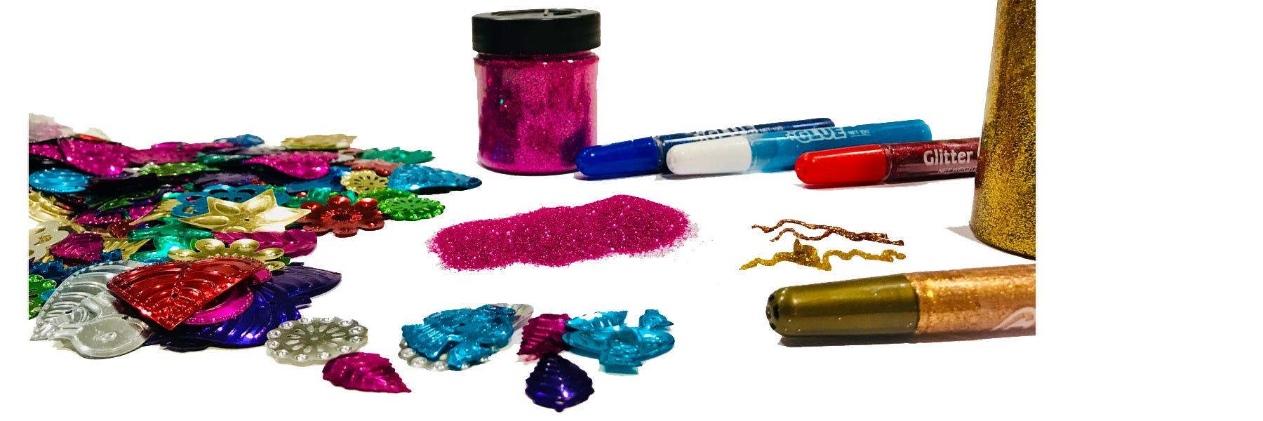 Glitter, glitterlim & paljetter