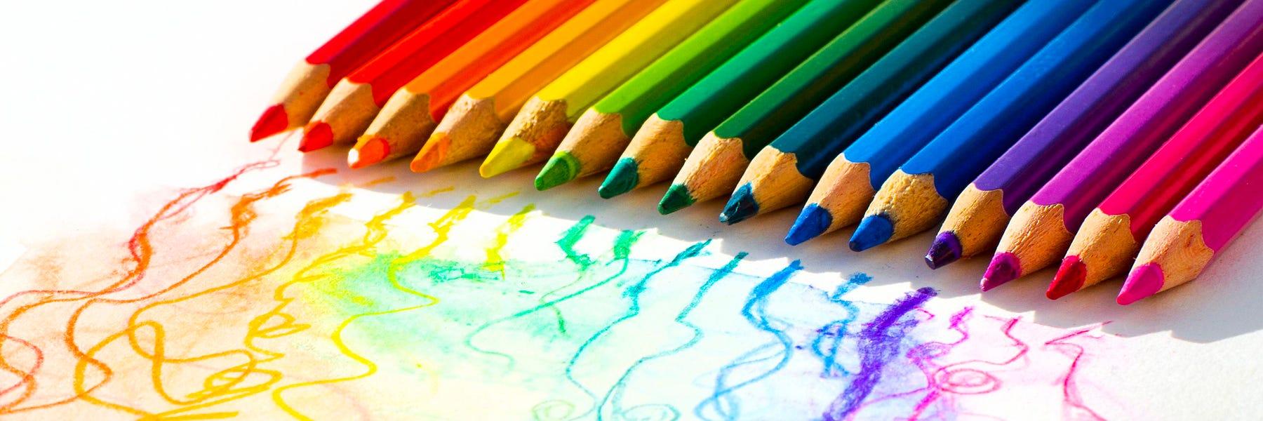 Färgpennor kulörer