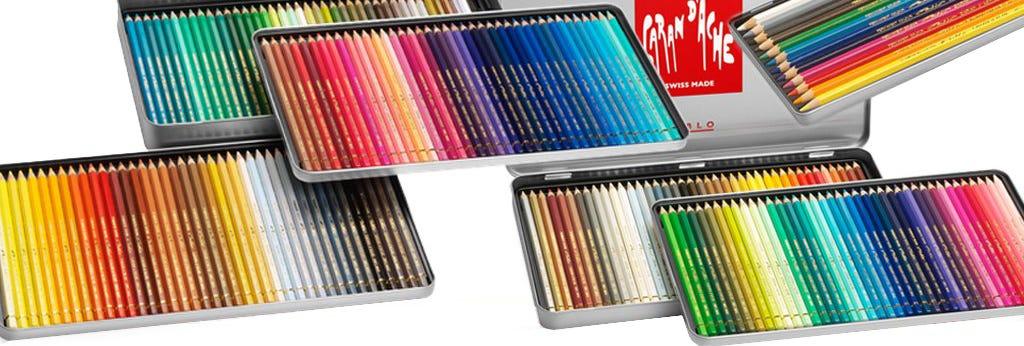 Färg & pastellpennor i set